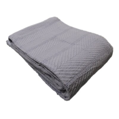 Egyptian Quality Cotton Herringbone Throw Blanket Size: Full/Queen, Color: Lavender