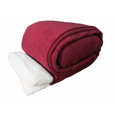Sherpa Sheet Set Size: Twin, Color: Wine
