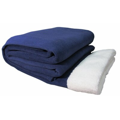 Sherpa Sheet Set Size: Queen, Color: Navy
