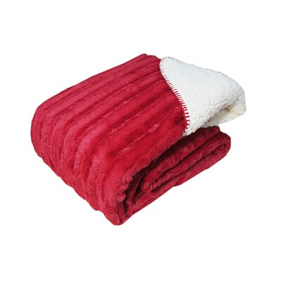 Gilead Oversized Sherpa Back Throw Color: Red