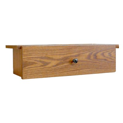 Adjustable Drop Shelf and Drawer Unit Size: 7.75 H x 22.75 W x 9.63 D, Finish: Dry Oak