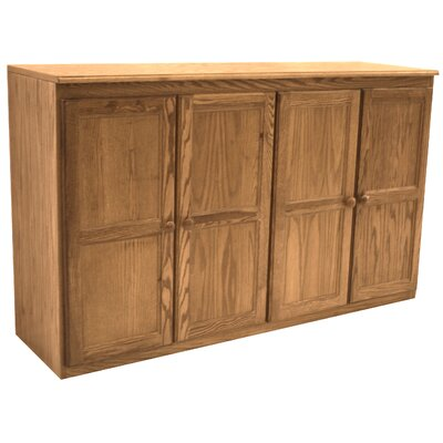 Multi Storage Unit TV Stand and Buffet Color: Dry Oak
