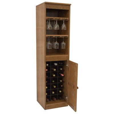 21 Bottle Floor Wine Cabinet Finish: Dry Oak