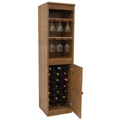 21 Bottle Floor Wine Cabinet Finish: Dry Oak