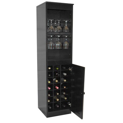 21 Bottle Floor Wine Cabinet Finish: Espresso