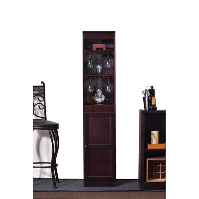 21 Bottle Floor Wine Cabinet Color: Cherry