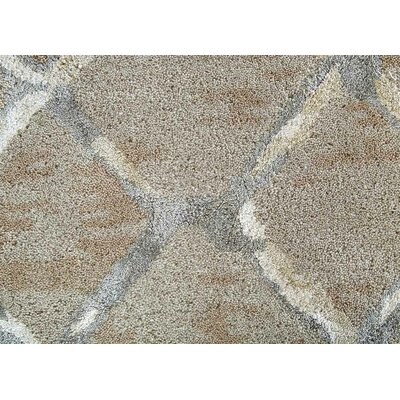 Heldt Hand-Tufted Taupe/Gray Area Rug Rug Size: 5 x 8
