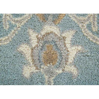 Teegan Hand-Tufted Blue/Gray/Cream Area Rug Rug Size: 5 x 8