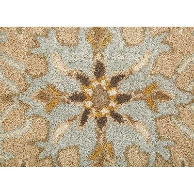 Tasmin Hand-Tufted Tan/Green Area Rug Rug Size: Rectangle 9 x 12