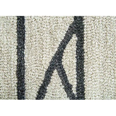 Hellman Hand-Tufted Taupe/Black Area Rug Rug Size: 76 x 96