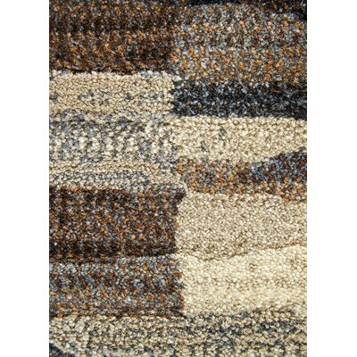 Tanya Taupe/Brown Area Rug Rug Size: Rectangle 53 x 76