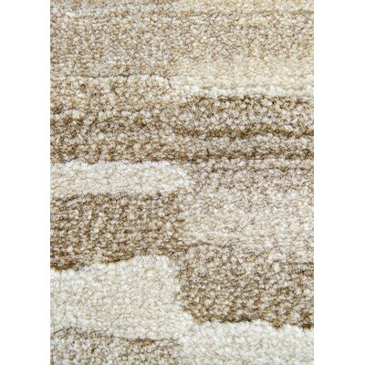 Tanya Brown/Tan/Taupe Area Rug Rug Size: 53 x 76
