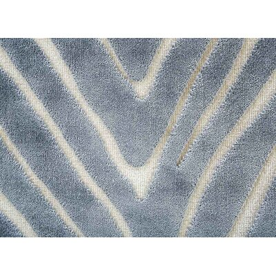 Meyers Gray/White Area Rug Rug Size: 76 x 96