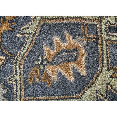 Tasmin Hand-Tufted Gray/Green Area Rug Rug Size: 5 x 8