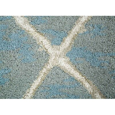 Heldt Hand-Tufted Blue/Cream/Tan Area Rug Rug Size: Rectangle 5 x 8