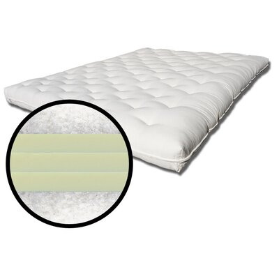 Ramses 3 8 Cotton Futon Mattress Size: Single
