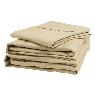 Polyester Sheet Set Size: Narrow King, Color: Latte