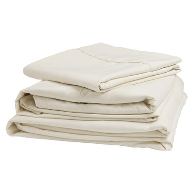 Polyester Sheet Set Size: Narrow King, Color: Ivory