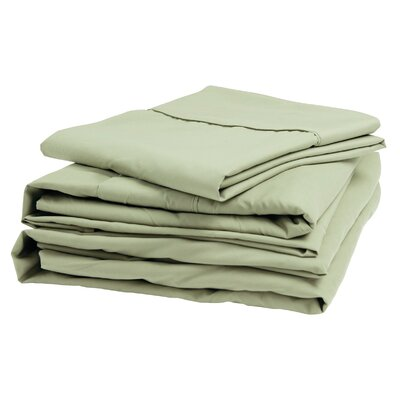 Polyester Sheet Set Size: King, Color: Sage