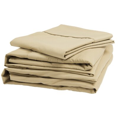 300 Thread Count 100% Cotton Sheet Set Size: Queen, Color: Latte
