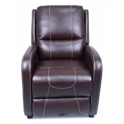 Pushback Manual Recliner Upholstery: Jaleco Chocolate