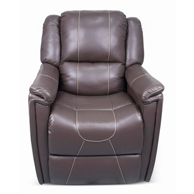 Swivel Glider Recliner Upholstery: Majestic Chocolate