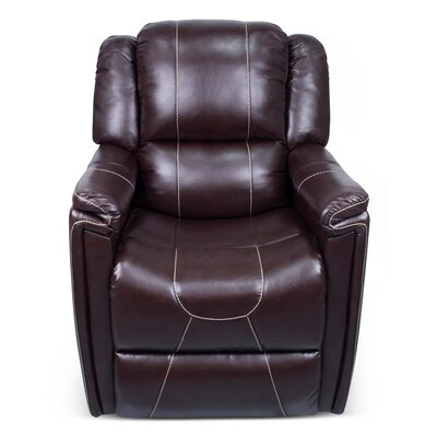 Manual Swivel Glider Recliner Upholstery: Jaleco Chocolate