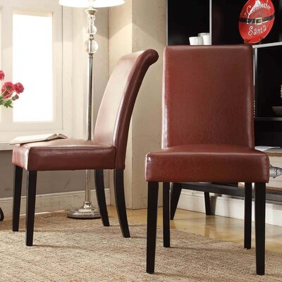 Kingstown Home Marsello Parson Chair (Set of 2) - Color: Wine Red