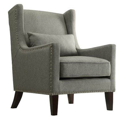 Oneill Wingback Chair Upholstery: Gray