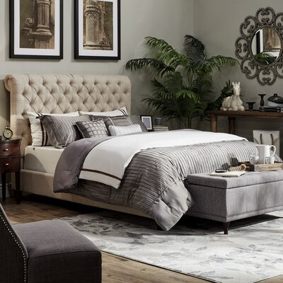 Sagebrush Traditional Upholstered Panel Bed Size: King