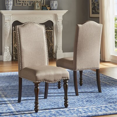 Hilliard Side Chair Upholstery Type- Color: Linen- Beige