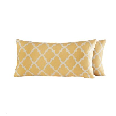 Wilmer Kidney Linen Lumbar Pillow Color: Banana Yellow