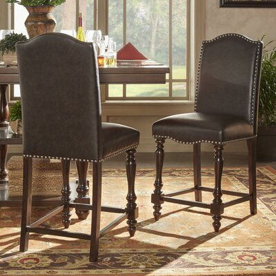 Hilliard Dinings Chair Upholstery Type - Color: Faux Leather - Brown