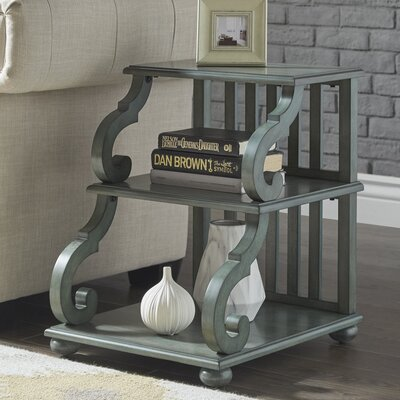 Noisettier End Table Finish: Dark Sea Green