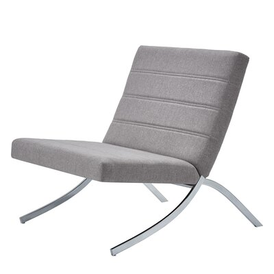 Balderas Linen Lounge Chair with Metal Leg Upholstery: Gray