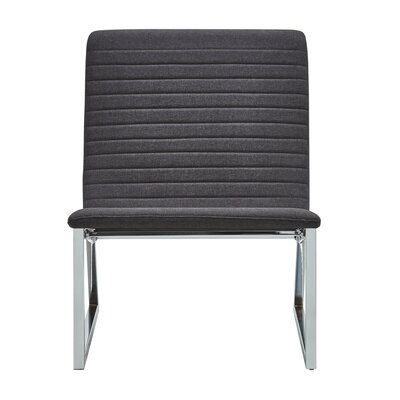 Balderrama Linen Lounge Chair Upholstery: Dark Gray