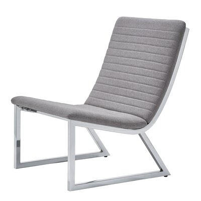 Balderrama Linen Lounge Chair Upholstery: Gray