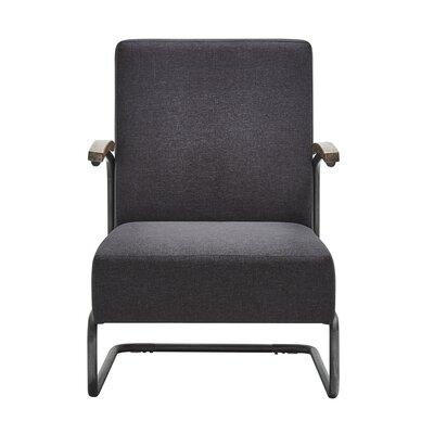 Amak Linen Armchair Upholstery: Dark Gray