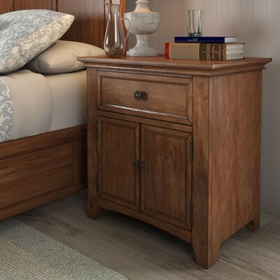 Sefton 1 Drawer Nightstand Color: Oak