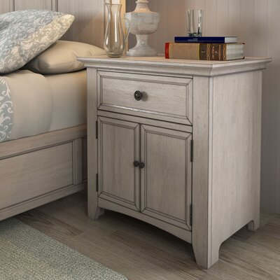 Sefton 1 Drawer Nightstand Finish: Antique White