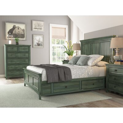 Sefton Queen Storage Platform Bed Color: Dark Sea Green