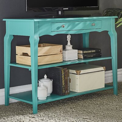 Shawnee Console Table Color: Marine Green