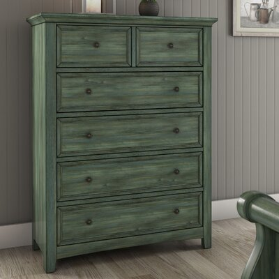 Sefton 6 Drawer Chest Color: Dark Sea Green