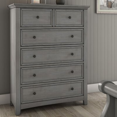 Sefton 6 Drawer Chest Color: Antique Gray