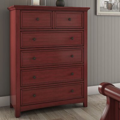 Sefton 6 Drawer Chest Color: Berry Red