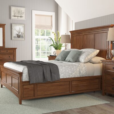 Sefton Queen Panel Bed Color: Oak