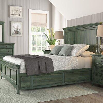 Sefton Queen Panel Bed Color: Dark Sea Green