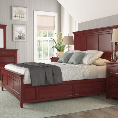 Sefton Queen Panel Bed Finish: Berry Red