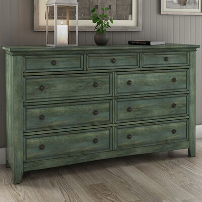 Sefton 9 Drawer Dresser Color: Dark Sea Green