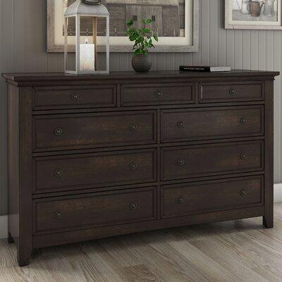 Sefton 9 Drawer Dresser Color: Antique Black